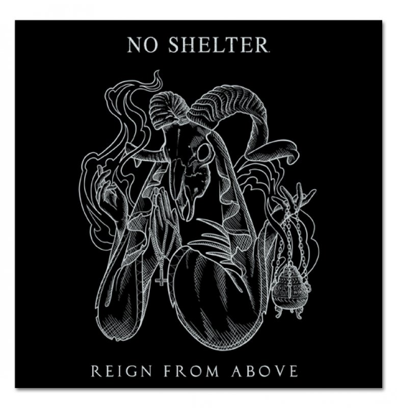 """NO SHELTER. """"REIGN FROM ABOVE"""" 7"""", rot, lim."""